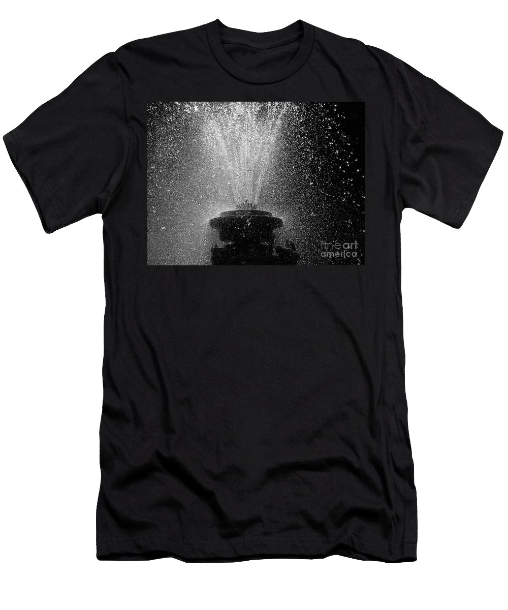 Fountain Men's T-Shirt (Athletic Fit) featuring the photograph Waterfall by Brothers Beerens