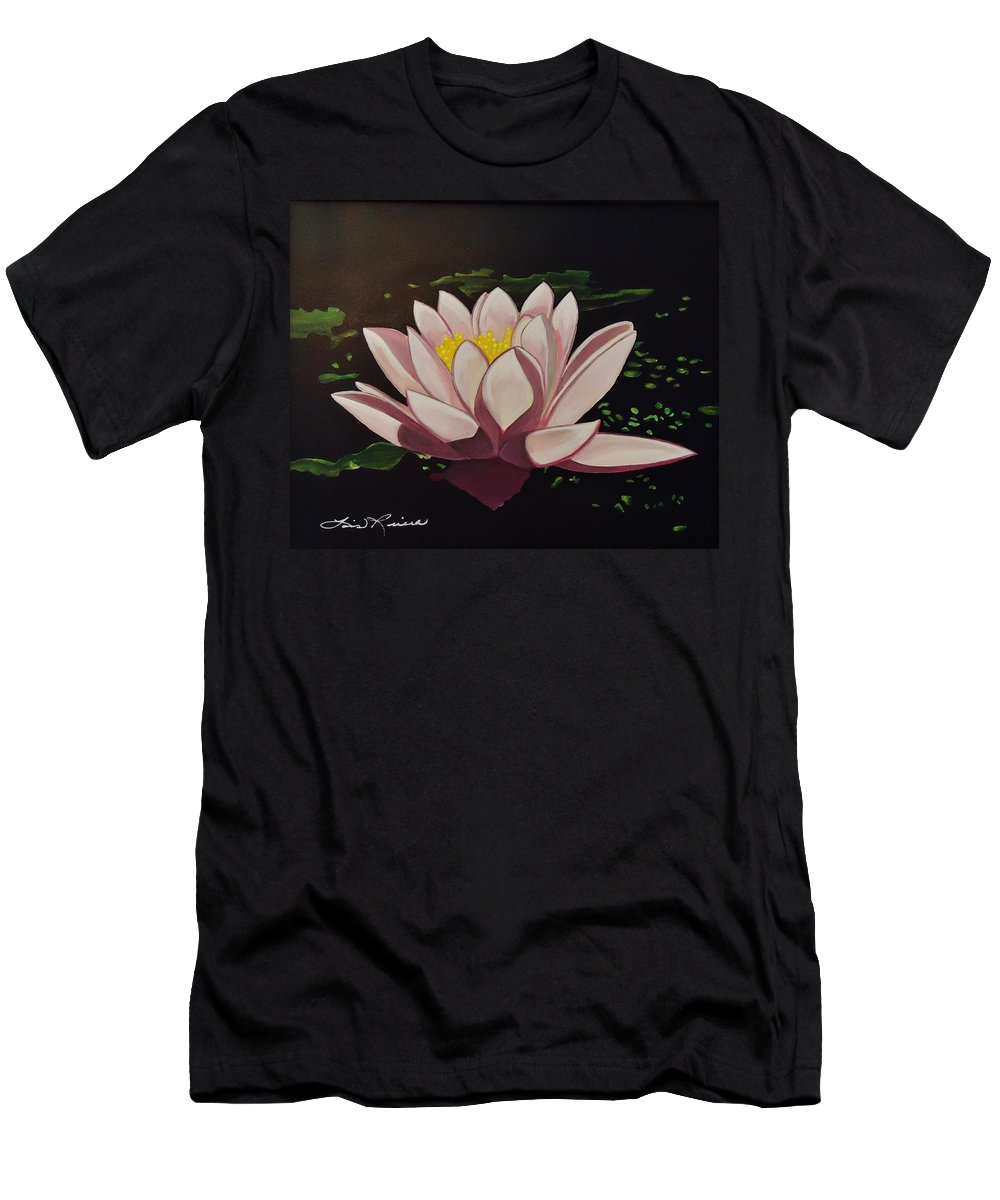 Flowers Men's T-Shirt (Athletic Fit) featuring the painting Waterlilly by Lois  Rivera