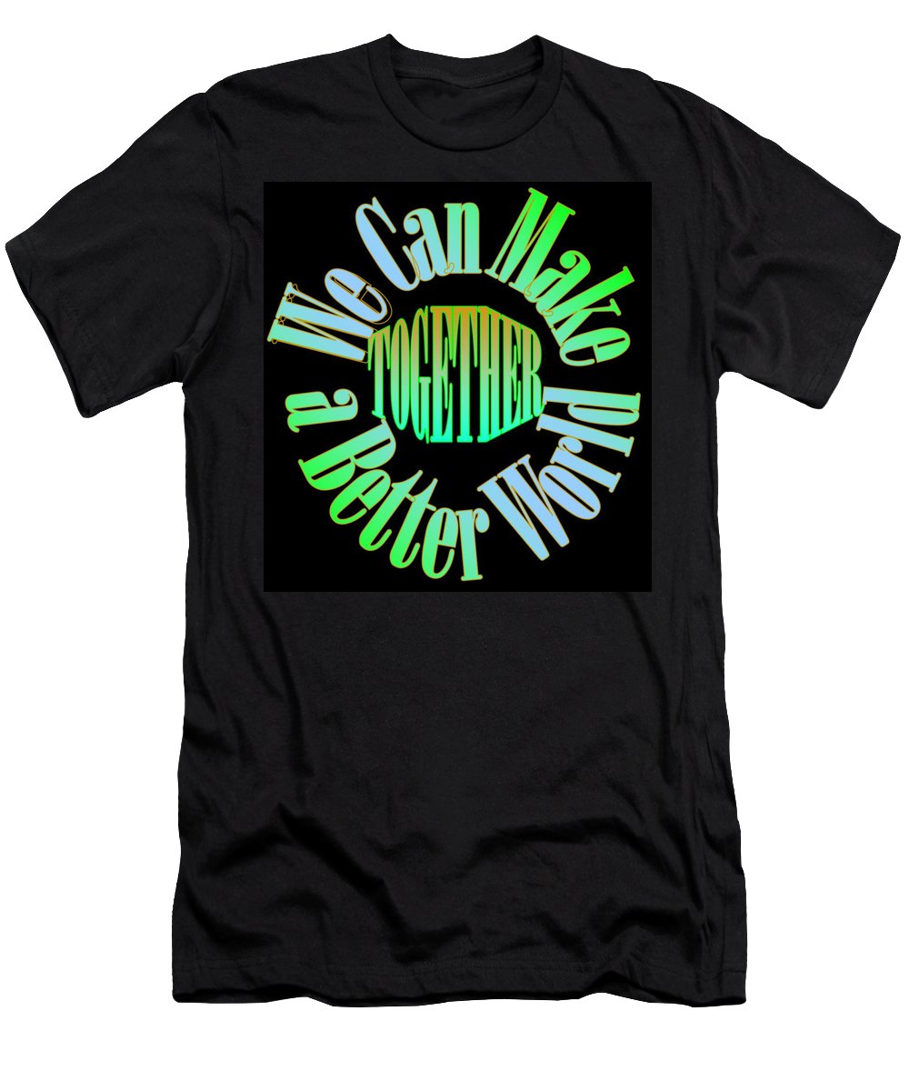 Unity Men's T-Shirt (Athletic Fit) featuring the digital art We Can Make A Better World by Pharris Art