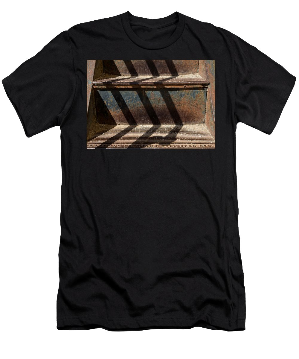 Weathered Men's T-Shirt (Athletic Fit) featuring the photograph Weathered Stairs by John Daly