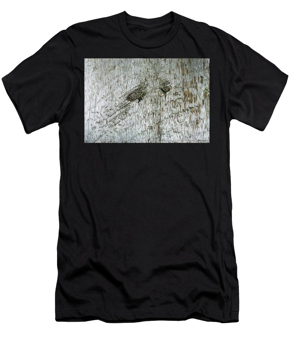Wood Men's T-Shirt (Athletic Fit) featuring the photograph Weathered Wood by Scott Angus