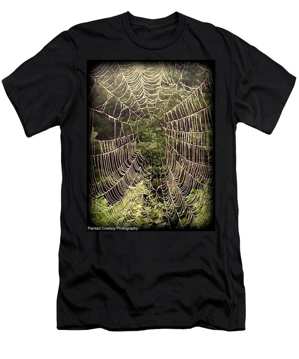 Web Men's T-Shirt (Athletic Fit) featuring the photograph Web2dark by Daniel Jakus