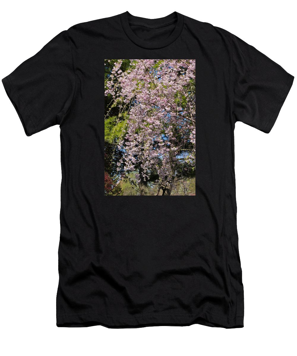 Pink Men's T-Shirt (Athletic Fit) featuring the photograph Weeping Cherry Tree by Julie Andel