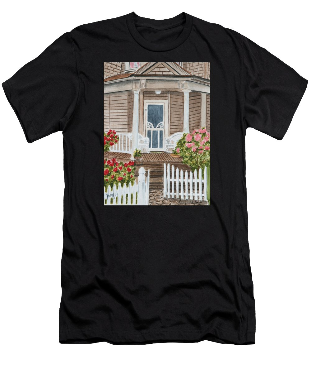 Architecture Men's T-Shirt (Athletic Fit) featuring the painting Welcome by Regan J Smith
