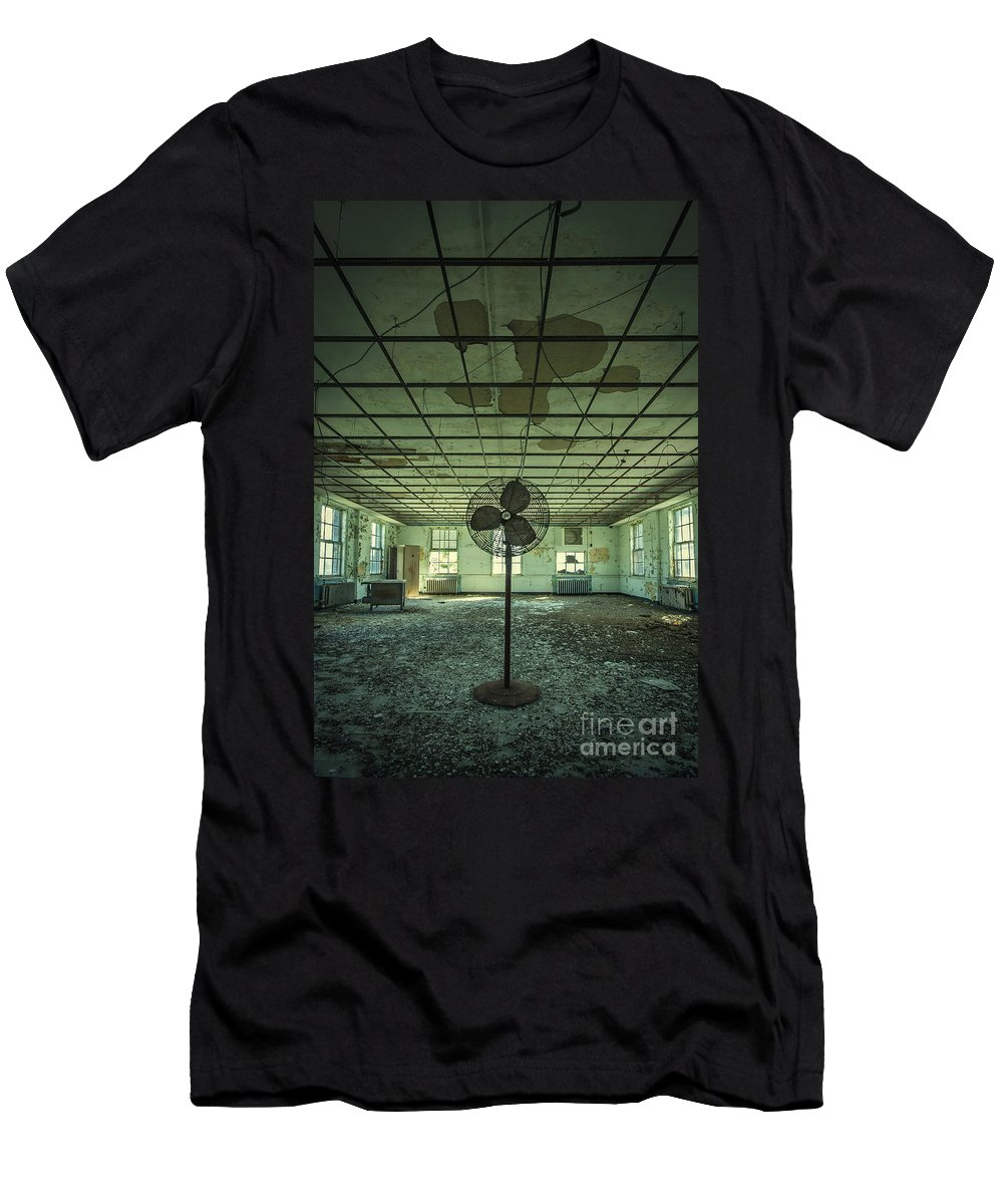 Asylum Men's T-Shirt (Athletic Fit) featuring the photograph Welcome To The Asylum by Evelina Kremsdorf