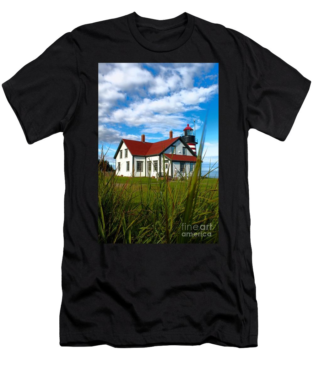Father's Day Men's T-Shirt (Athletic Fit) featuring the photograph West Quoddy_5421 by Joseph Marquis