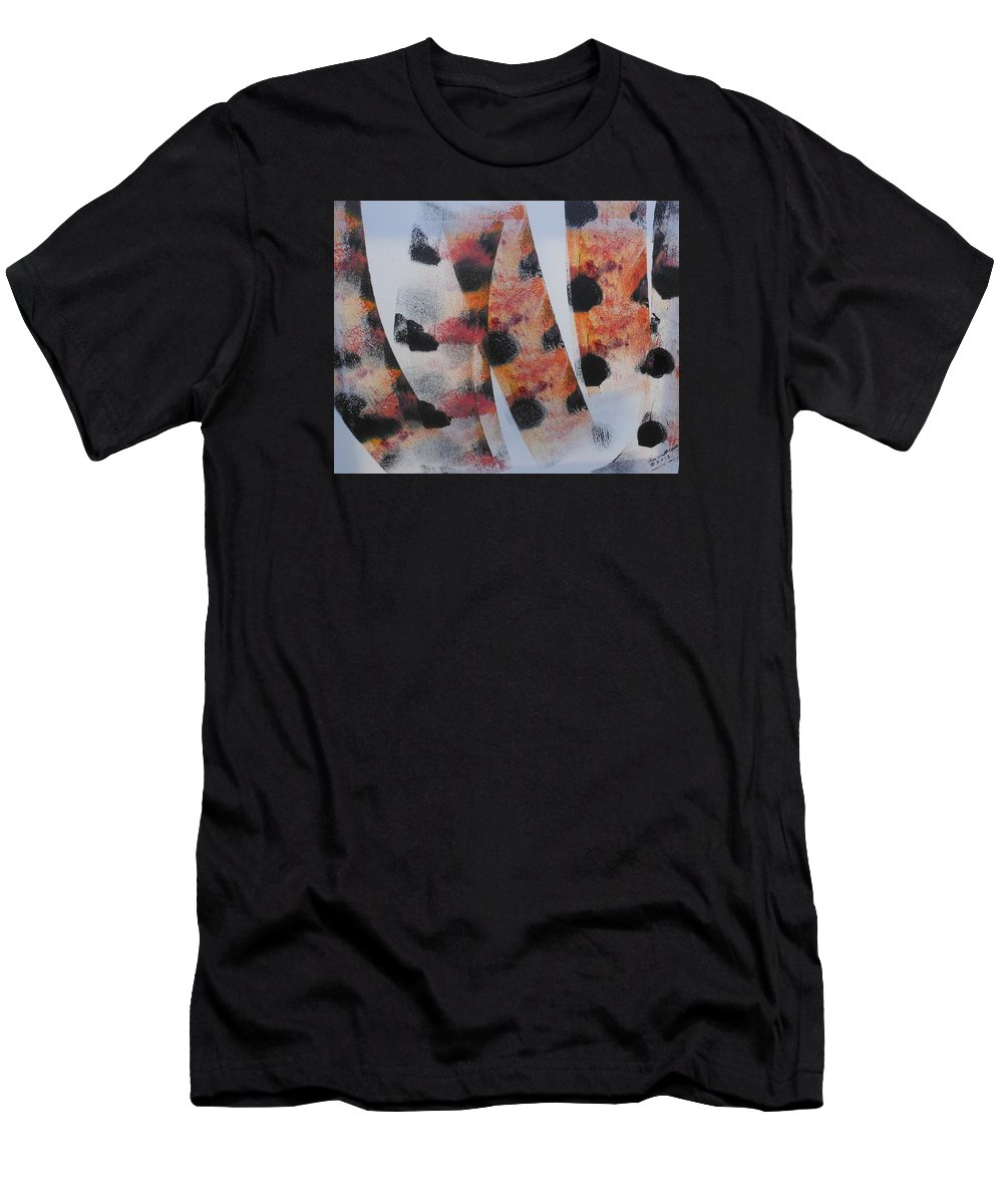 Acrylic Men's T-Shirt (Athletic Fit) featuring the painting What Do You See by Arlene Wright-Correll