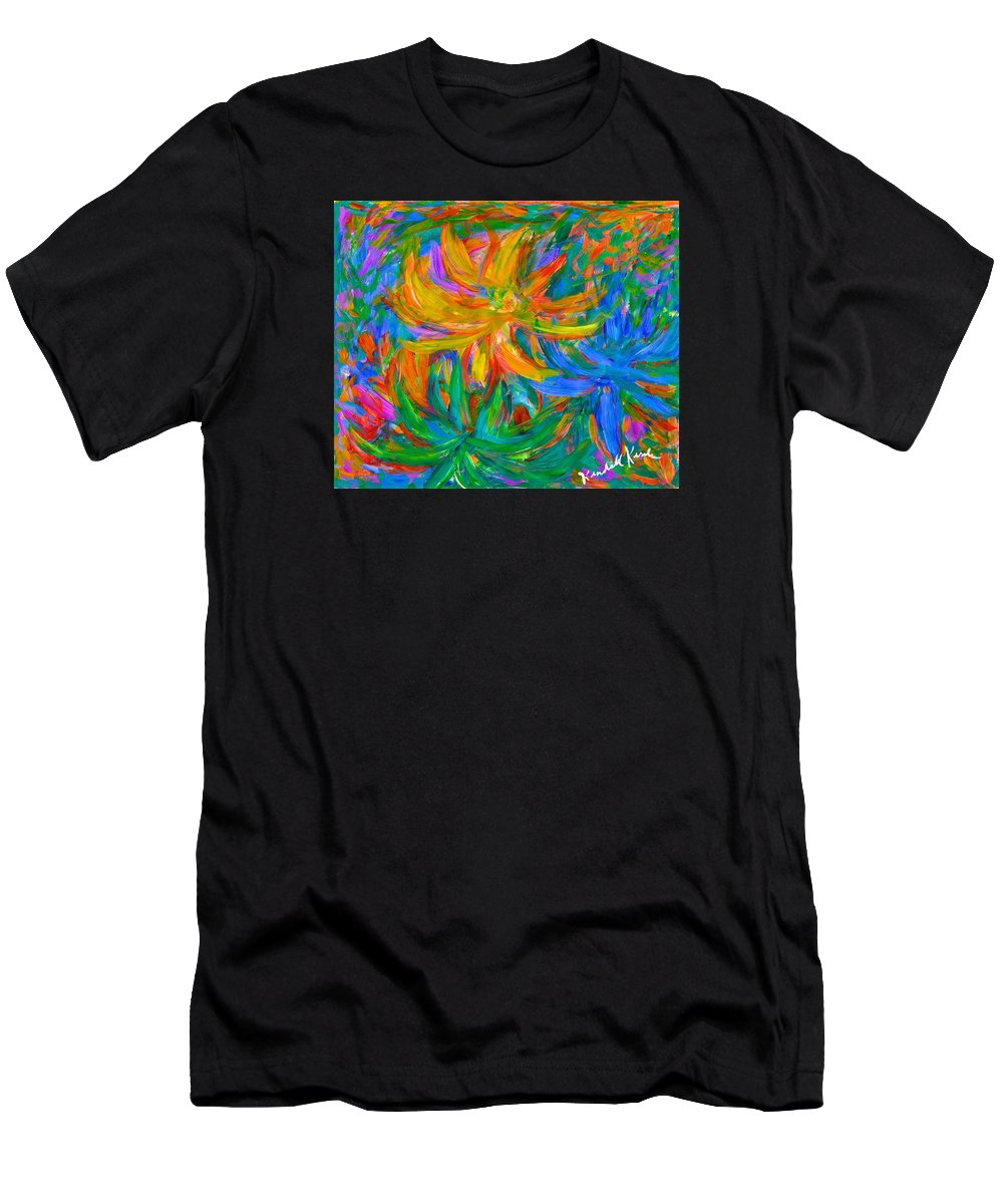 Flowers Men's T-Shirt (Athletic Fit) featuring the painting Whatever by Kendall Kessler