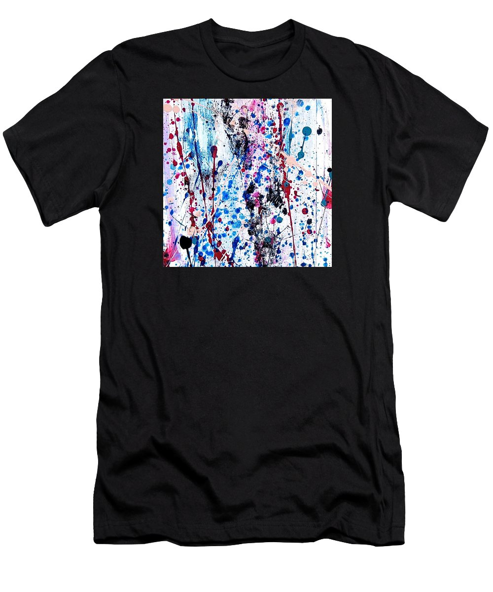 Popping Men's T-Shirt (Athletic Fit) featuring the painting What's A Popping by Marilyn Healey