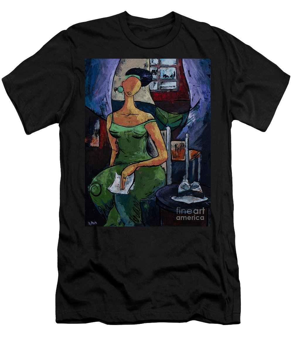 Love T-Shirt featuring the painting What's Left Behind...- From The Eternal WHYs series by Elisabeta Hermann