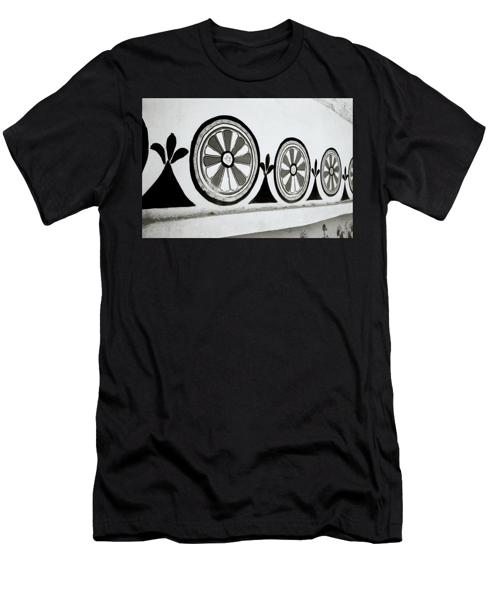 India Men's T-Shirt (Athletic Fit) featuring the photograph The Wheel Of Chakra by Shaun Higson