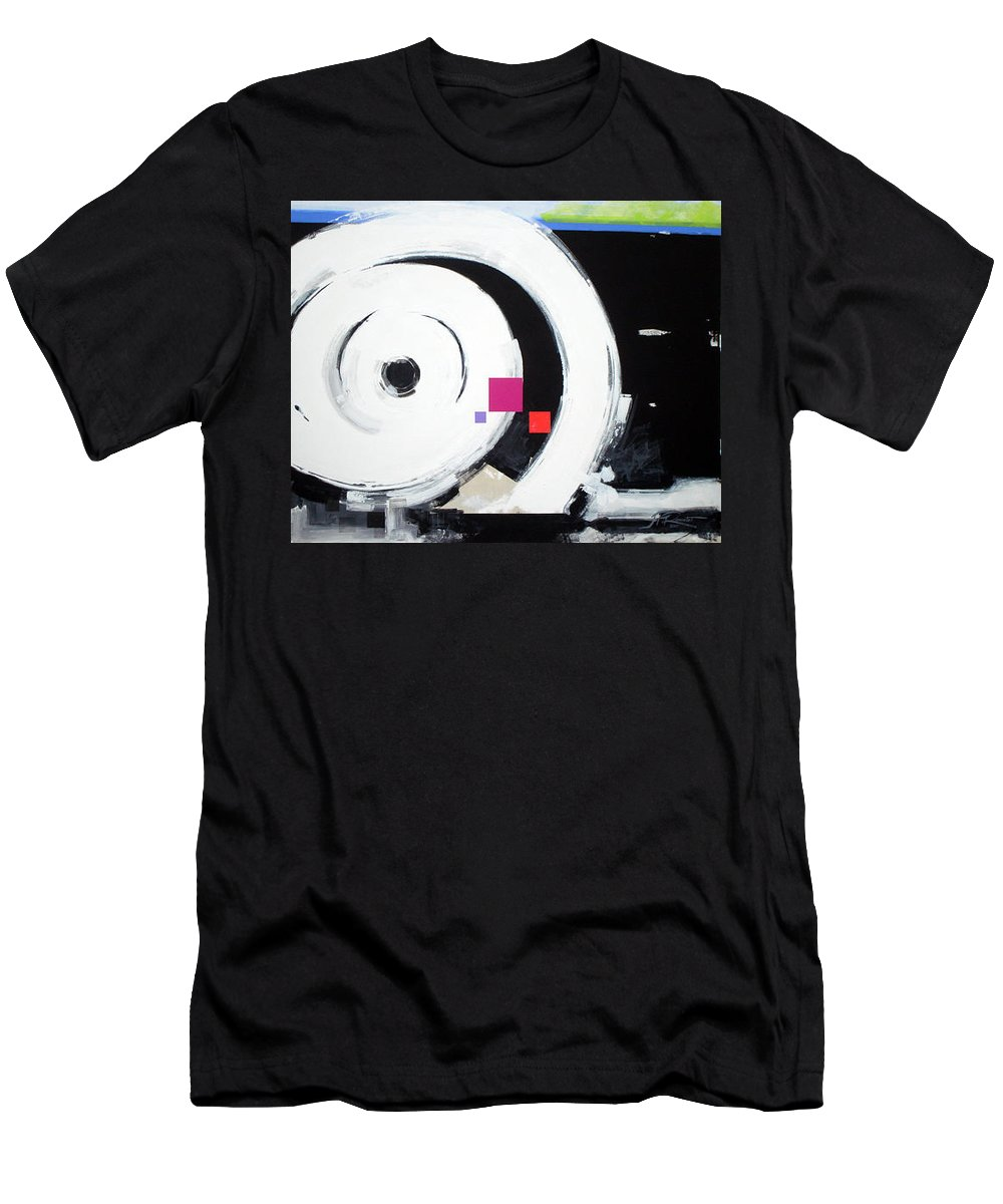 Abstract Men's T-Shirt (Athletic Fit) featuring the painting Wheel Of Fortune by Jean Pierre Rousselet