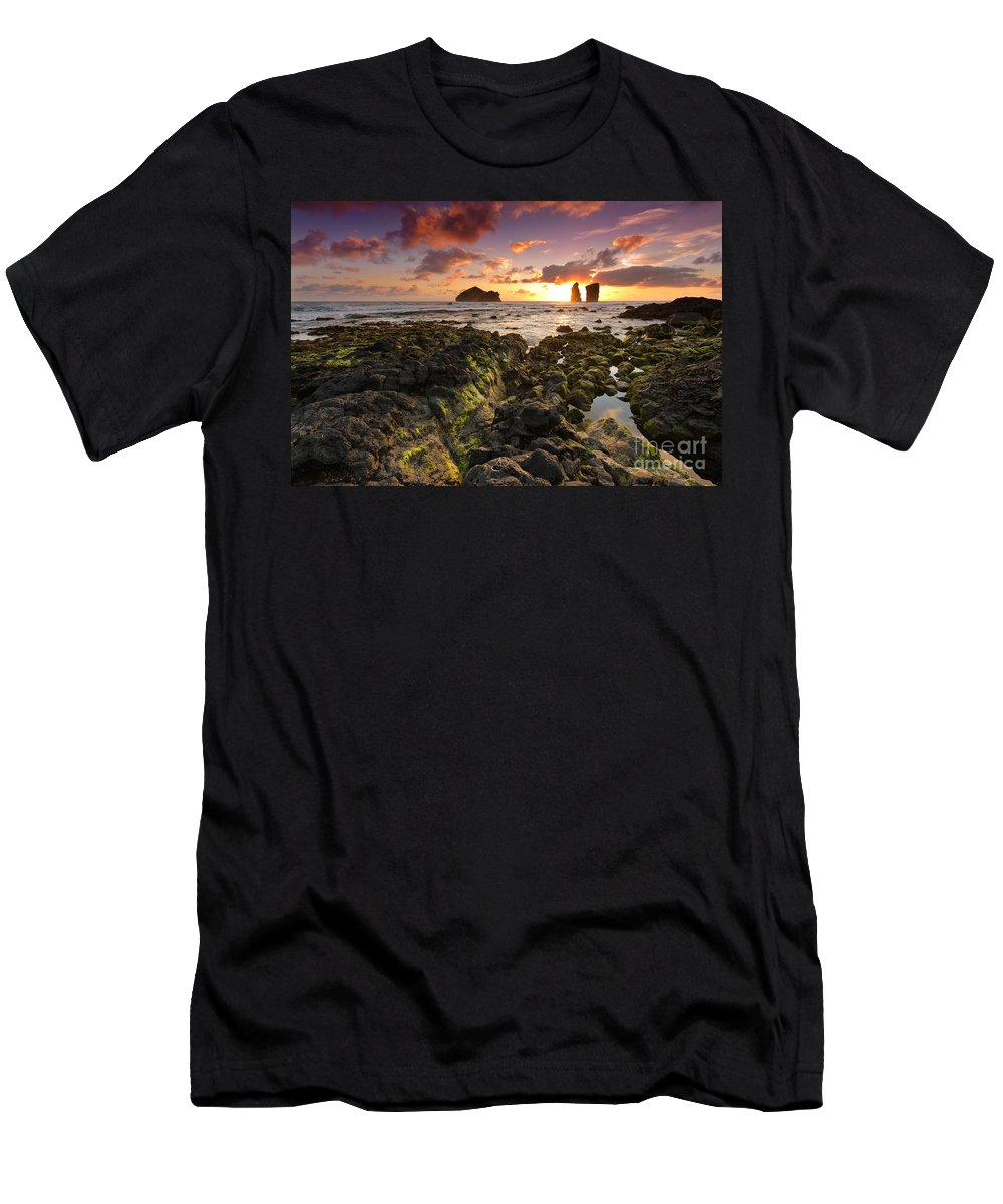 Landscape Men's T-Shirt (Athletic Fit) featuring the photograph When The Sun Hides. by Marco Andrade