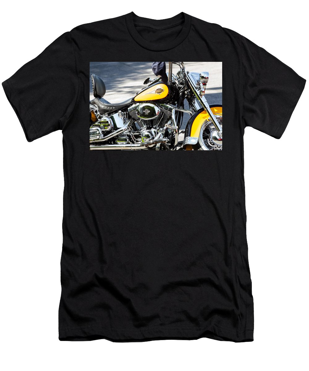 Cap Men's T-Shirt (Athletic Fit) featuring the photograph Where Do You Hang A Harley Cap by Ed Gleichman