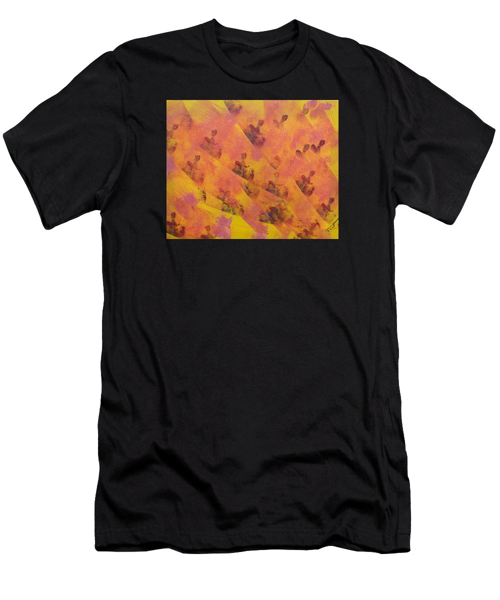 Acrylic Men's T-Shirt (Athletic Fit) featuring the painting Where Have All The People Gone by Arlene Wright-Correll