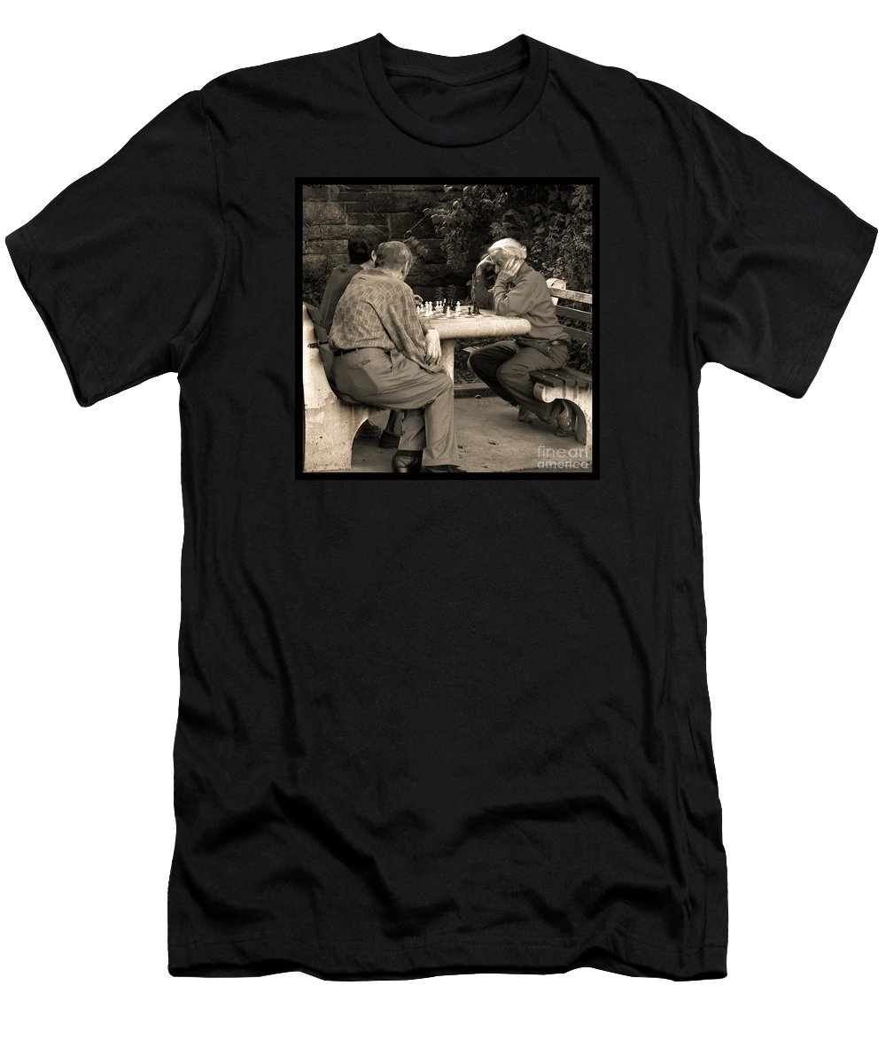 Friends Men's T-Shirt (Athletic Fit) featuring the photograph Where Is Bobby Fischer by Madeline Ellis