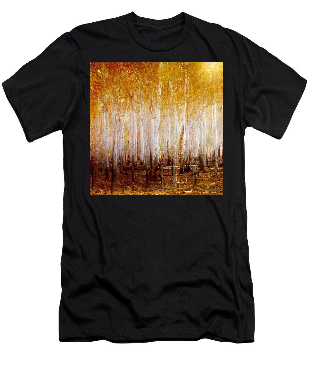 Landscapes Men's T-Shirt (Athletic Fit) featuring the photograph Where The Sun Shines by Holly Kempe