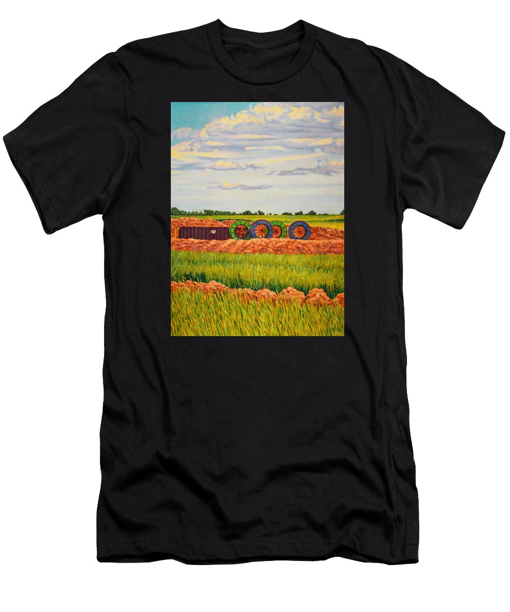 Landscape Men's T-Shirt (Athletic Fit) featuring the painting Whimsical Design by Kenneth Cobb