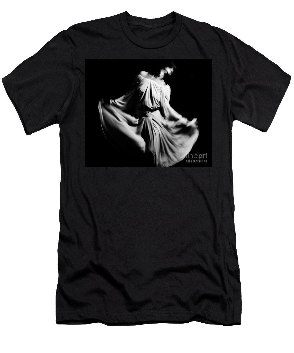 Black Men's T-Shirt (Athletic Fit) featuring the photograph Whispering by Jessica Shelton
