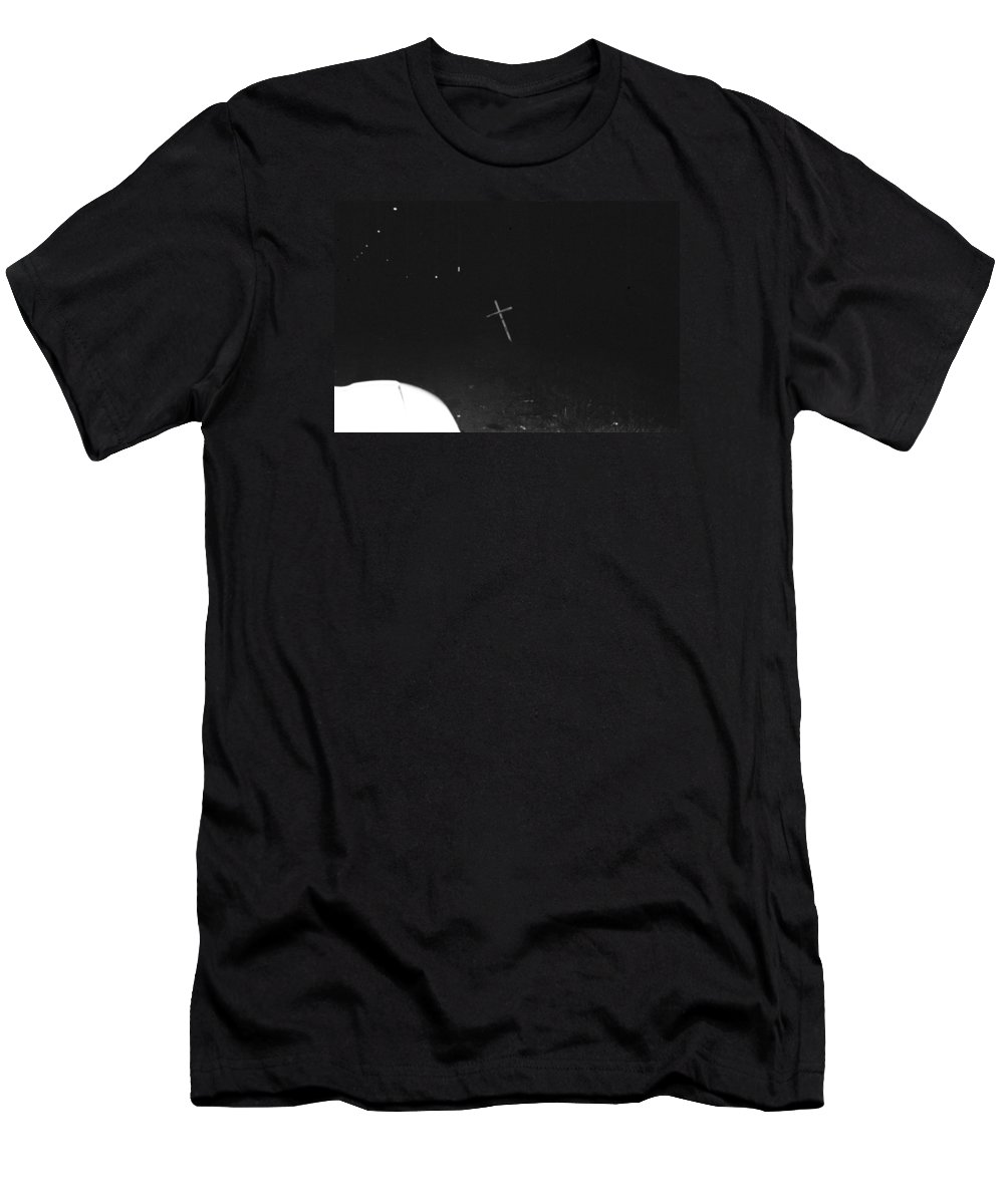 White Cross Men's T-Shirt (Athletic Fit) featuring the photograph White Cross by Steven Macanka