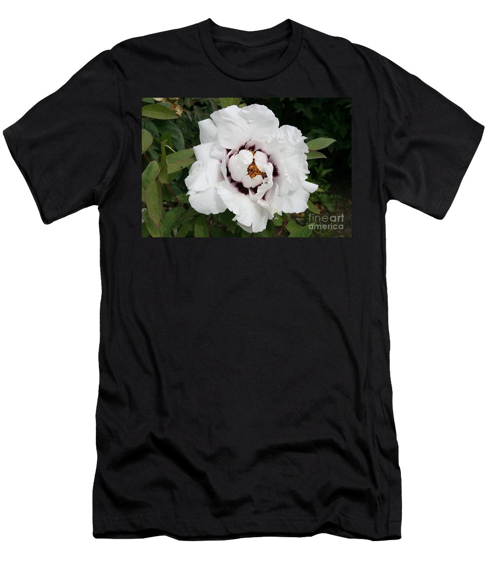 Flowers Men's T-Shirt (Athletic Fit) featuring the photograph White Peony by Christiane Schulze Art And Photography
