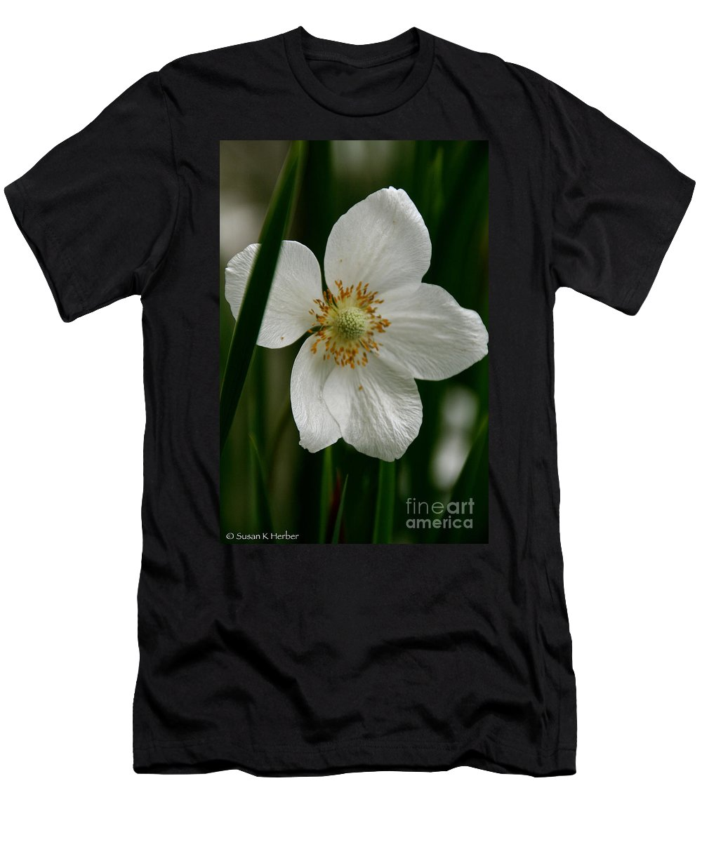 Flower Men's T-Shirt (Athletic Fit) featuring the photograph White Siberian by Susan Herber