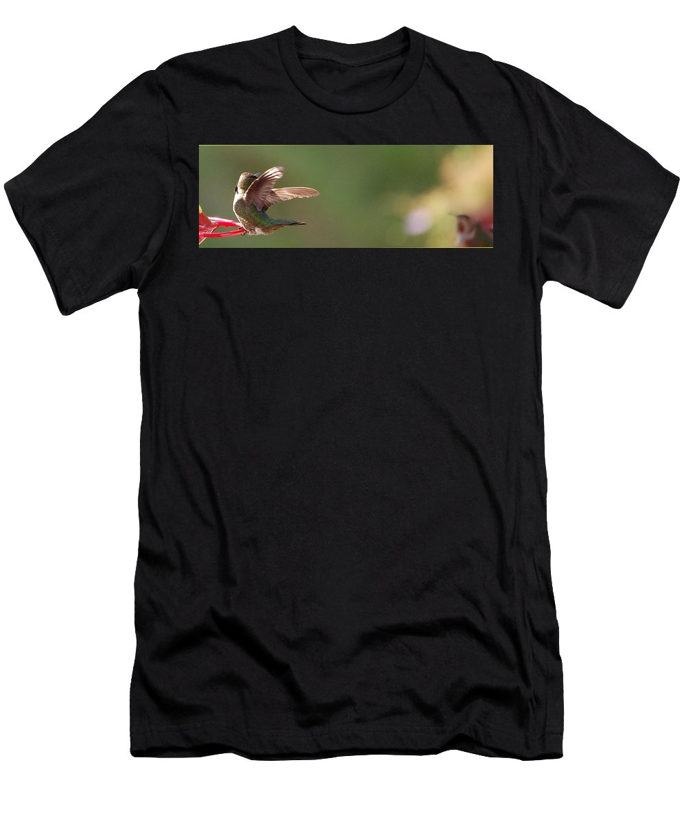 Linda Brody Men's T-Shirt (Athletic Fit) featuring the photograph Who Is That by Linda Brody