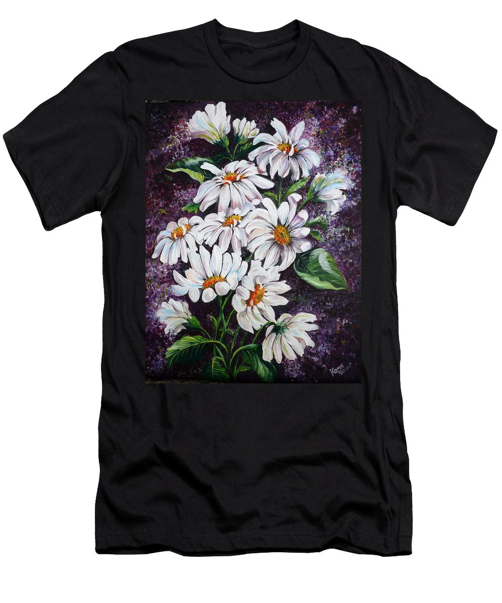 Daisies Painting T-Shirt featuring the painting Wild Daisies by Karin Dawn Kelshall- Best