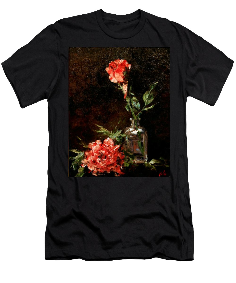 Floral T-Shirt featuring the painting Wild Irish by Jim Gola