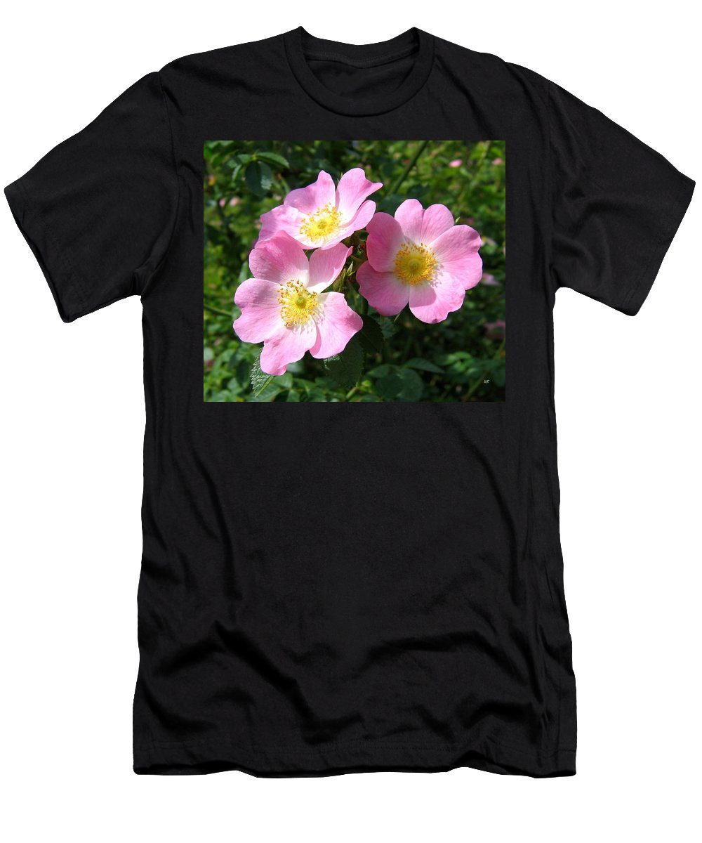 Wild Roses Men's T-Shirt (Athletic Fit) featuring the photograph Wild Roses 1 by Will Borden