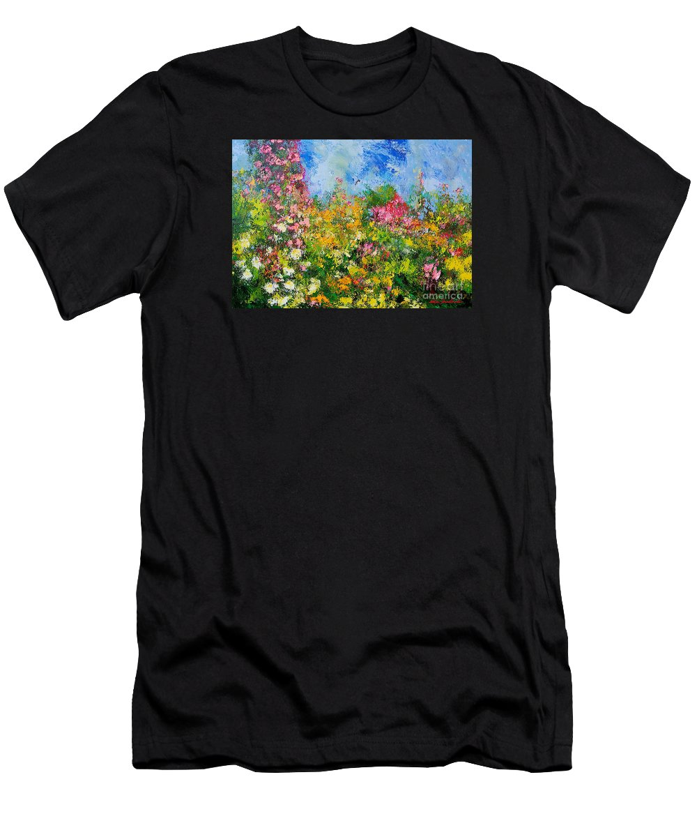 Flowers Men's T-Shirt (Athletic Fit) featuring the painting Wild Sweetness by Allan P Friedlander