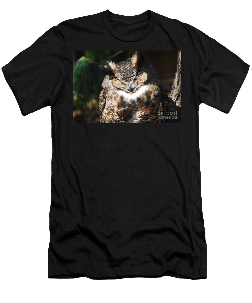 Owl Men's T-Shirt (Athletic Fit) featuring the photograph Wilderness Owl by DejaVu Designs