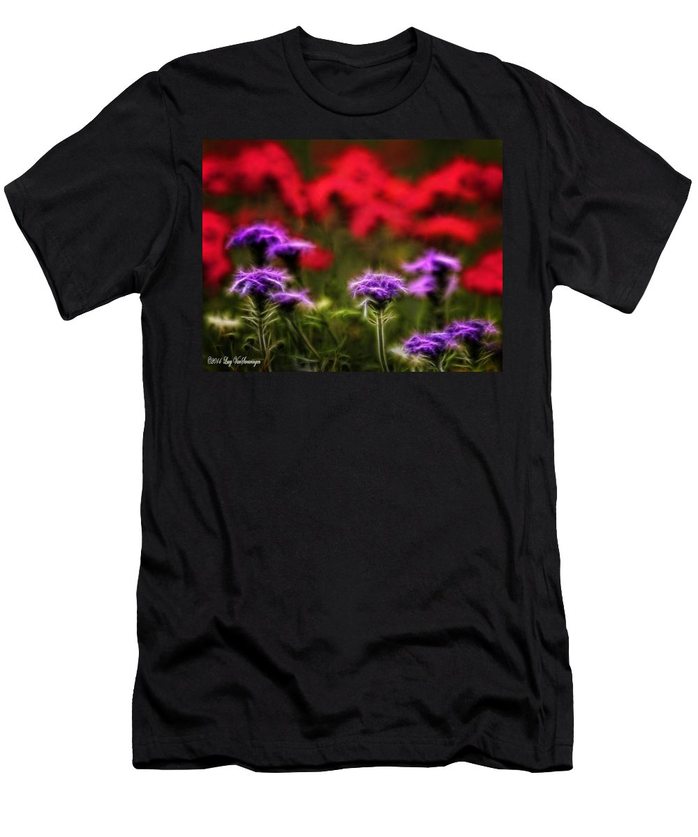 Verbena T-Shirt featuring the photograph Wildflower Fantasy by Lucy VanSwearingen