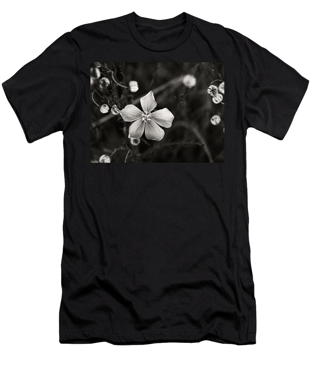 Wildflower Men's T-Shirt (Athletic Fit) featuring the photograph Wildflower by Marilyn Hunt