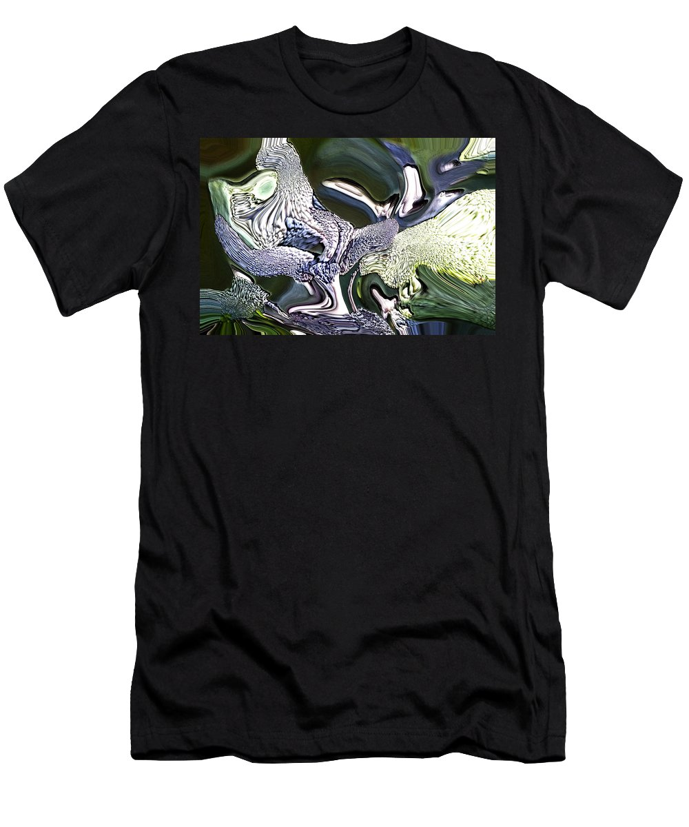 Abstract Men's T-Shirt (Athletic Fit) featuring the digital art Wildwood by Richard Thomas