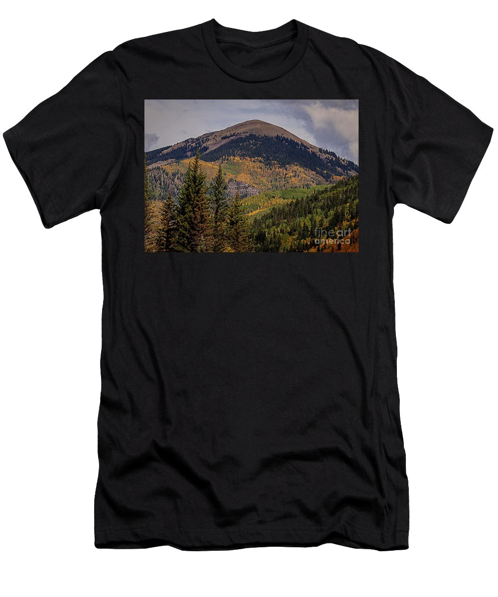 Wilderness Men's T-Shirt (Athletic Fit) featuring the photograph Wilson Peak Colorado by Janice Pariza