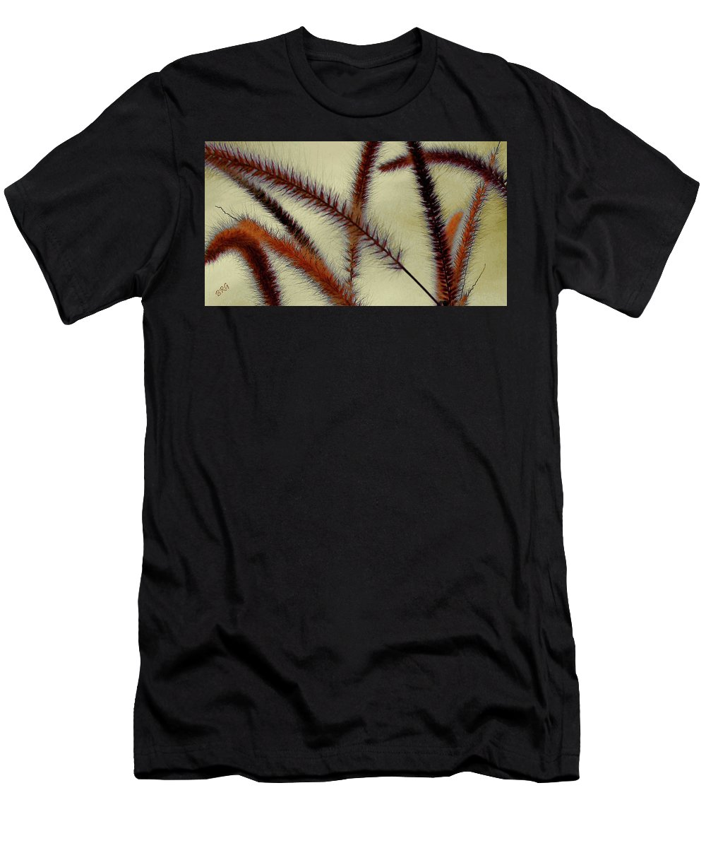 Grass Men's T-Shirt (Athletic Fit) featuring the photograph Wind by Ben and Raisa Gertsberg
