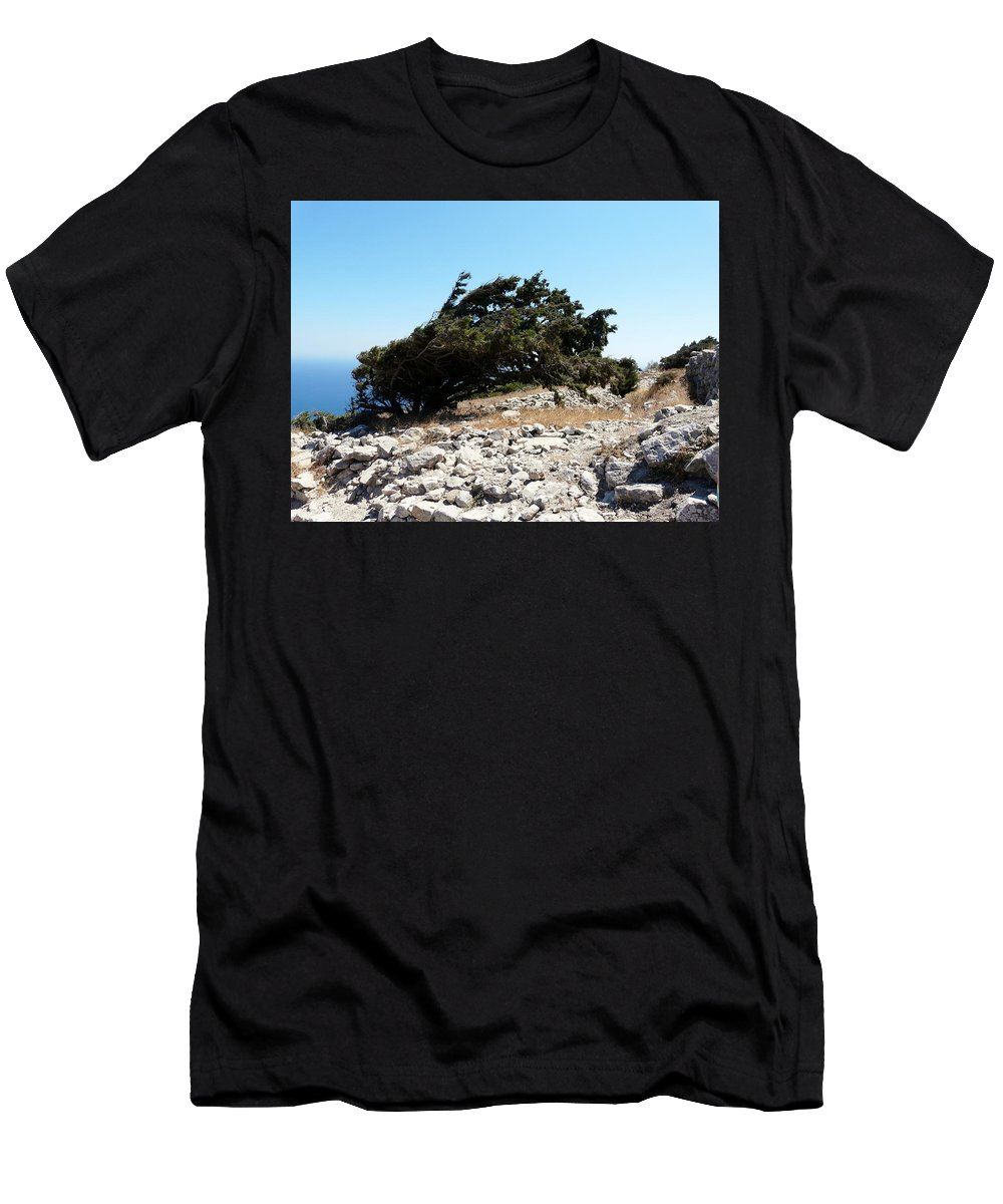 Wind Dodger Men's T-Shirt (Athletic Fit) featuring the photograph Wind Dodger by Valerie Ornstein