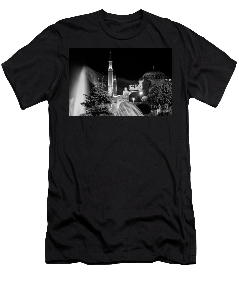 Hagia Sophia Men's T-Shirt (Athletic Fit) featuring the photograph Windblown 2 by Bob Phillips