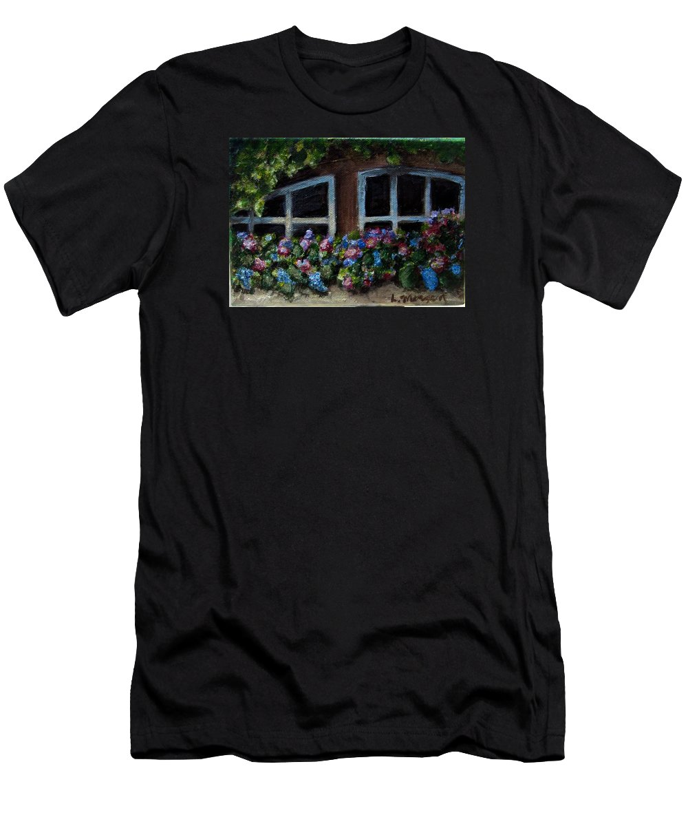 Window Box T-Shirt featuring the painting Window Box Wonder by Laurie Morgan
