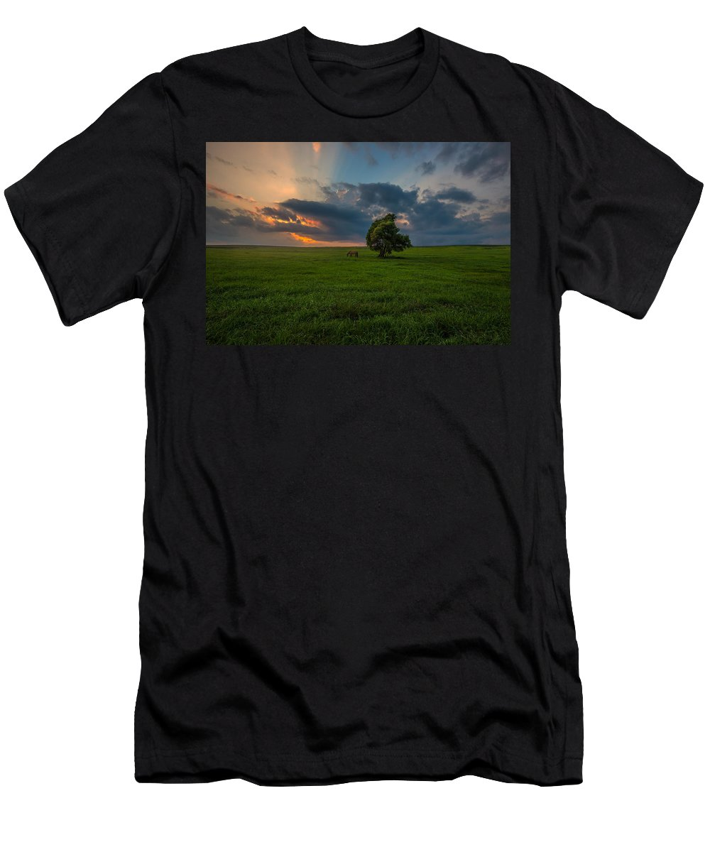 #clouds Men's T-Shirt (Athletic Fit) featuring the photograph Windows Sd by Aaron J Groen