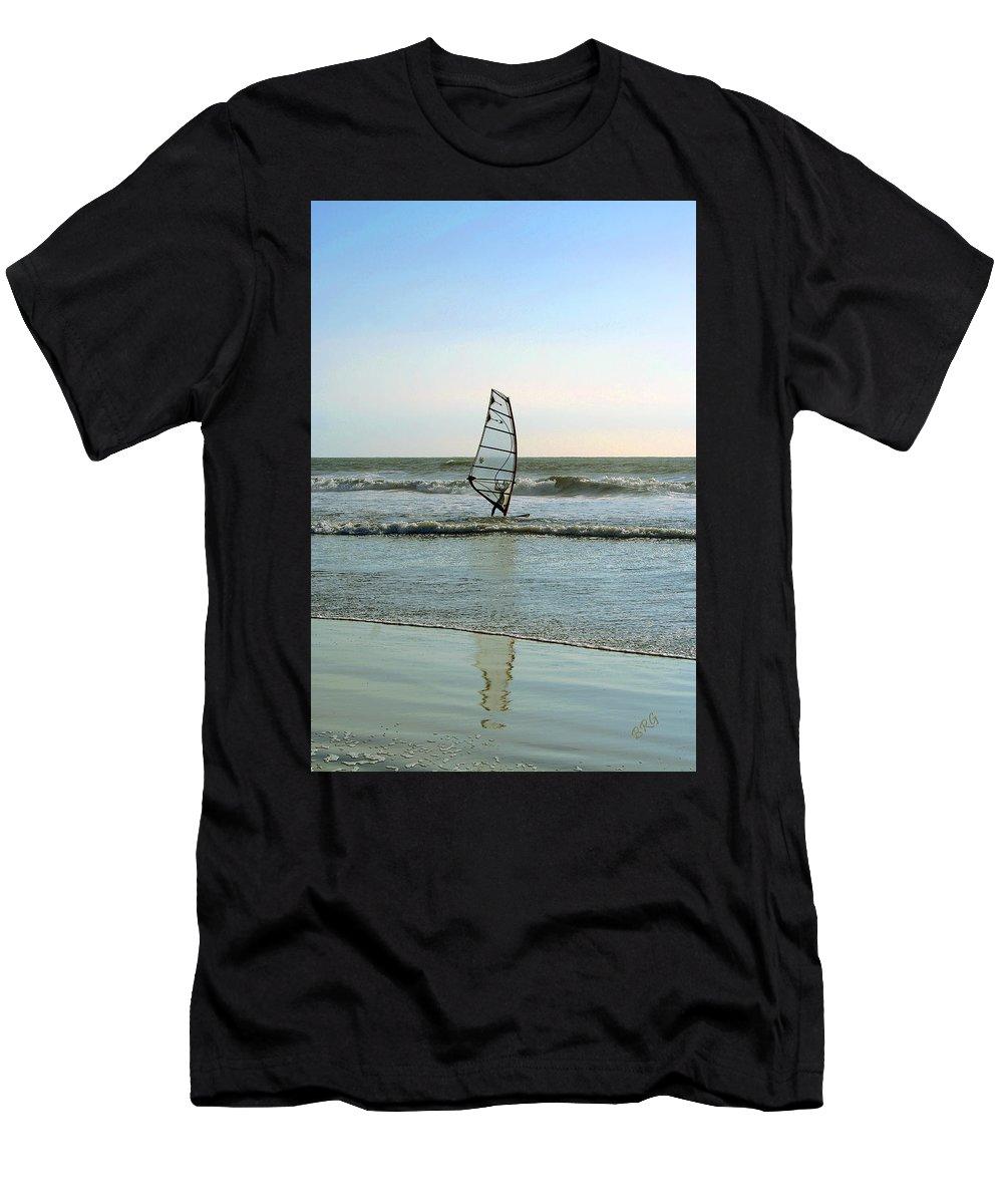Windsurfer Men's T-Shirt (Athletic Fit) featuring the photograph Windsurfing by Ben and Raisa Gertsberg