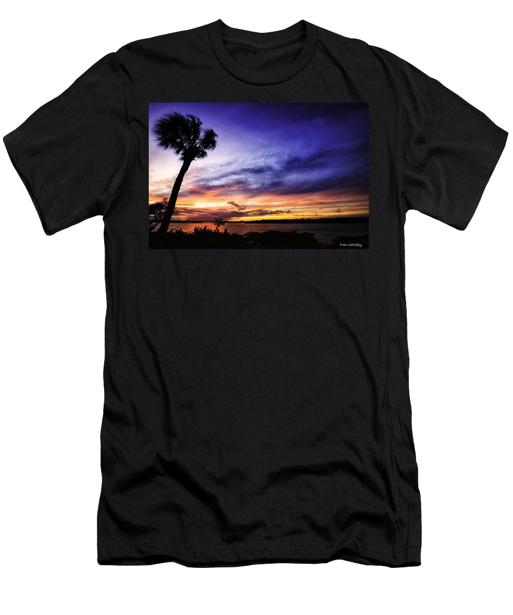 Windy Men's T-Shirt (Athletic Fit) featuring the photograph Windy Evening by Fran Gallogly