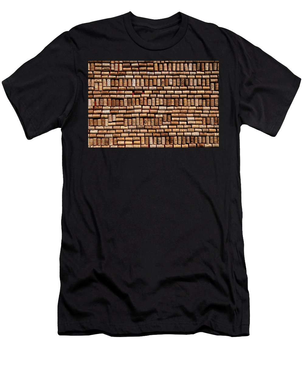 Cork Men's T-Shirt (Athletic Fit) featuring the photograph Wine Corks by Willo Breisacher