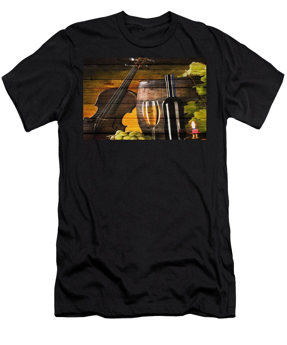 Wine Men's T-Shirt (Athletic Fit) featuring the photograph Wine by Joe Hamilton
