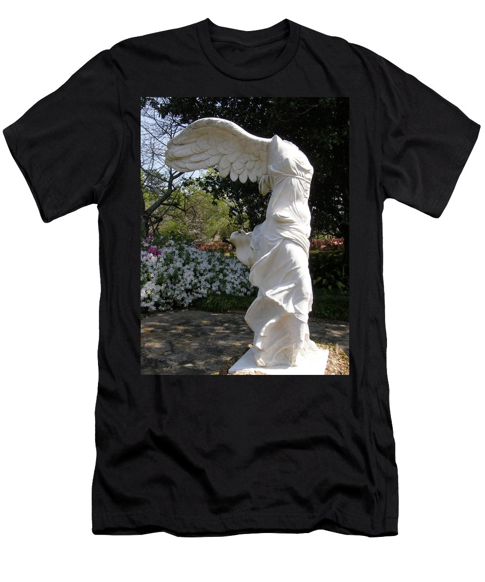 Formal Garden Men's T-Shirt (Athletic Fit) featuring the photograph Winged Victory Nike by Caryl J Bohn