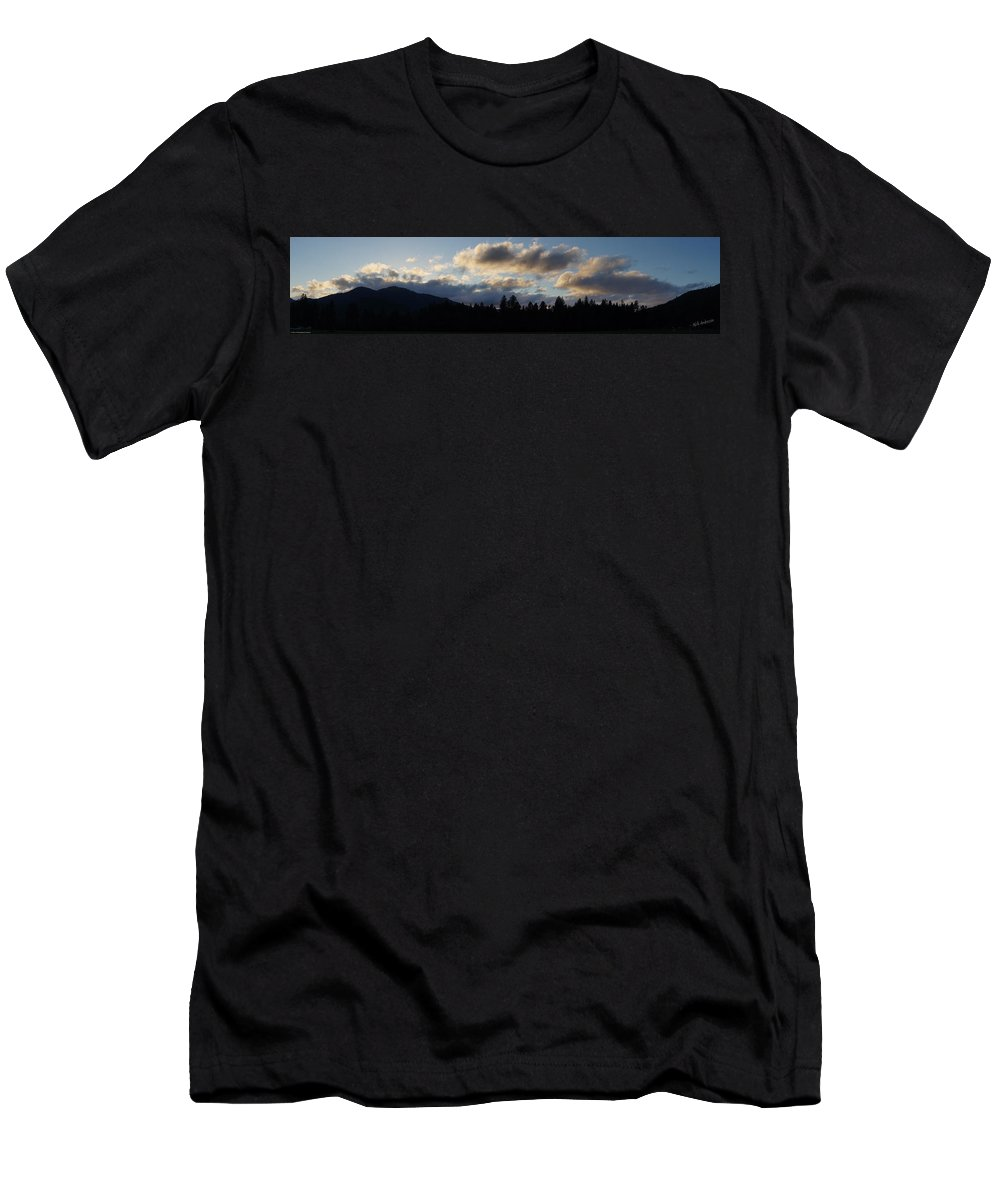 Panoramic Men's T-Shirt (Athletic Fit) featuring the photograph Winter Eve In The Applegate Valley by Mick Anderson