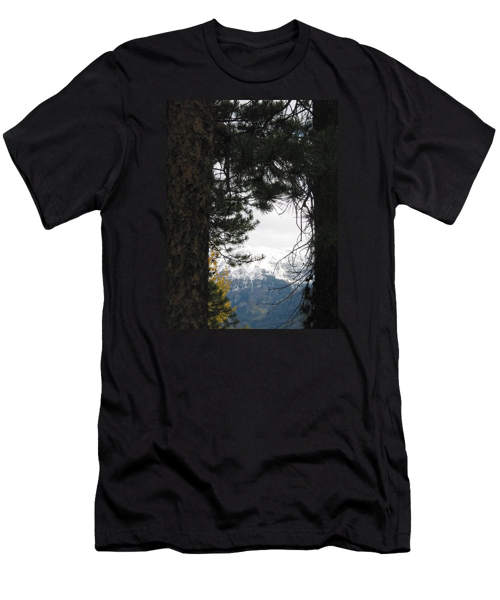 Grand Lake Men's T-Shirt (Athletic Fit) featuring the photograph Winter In Grand Lake Co 1 by Jacqueline Russell