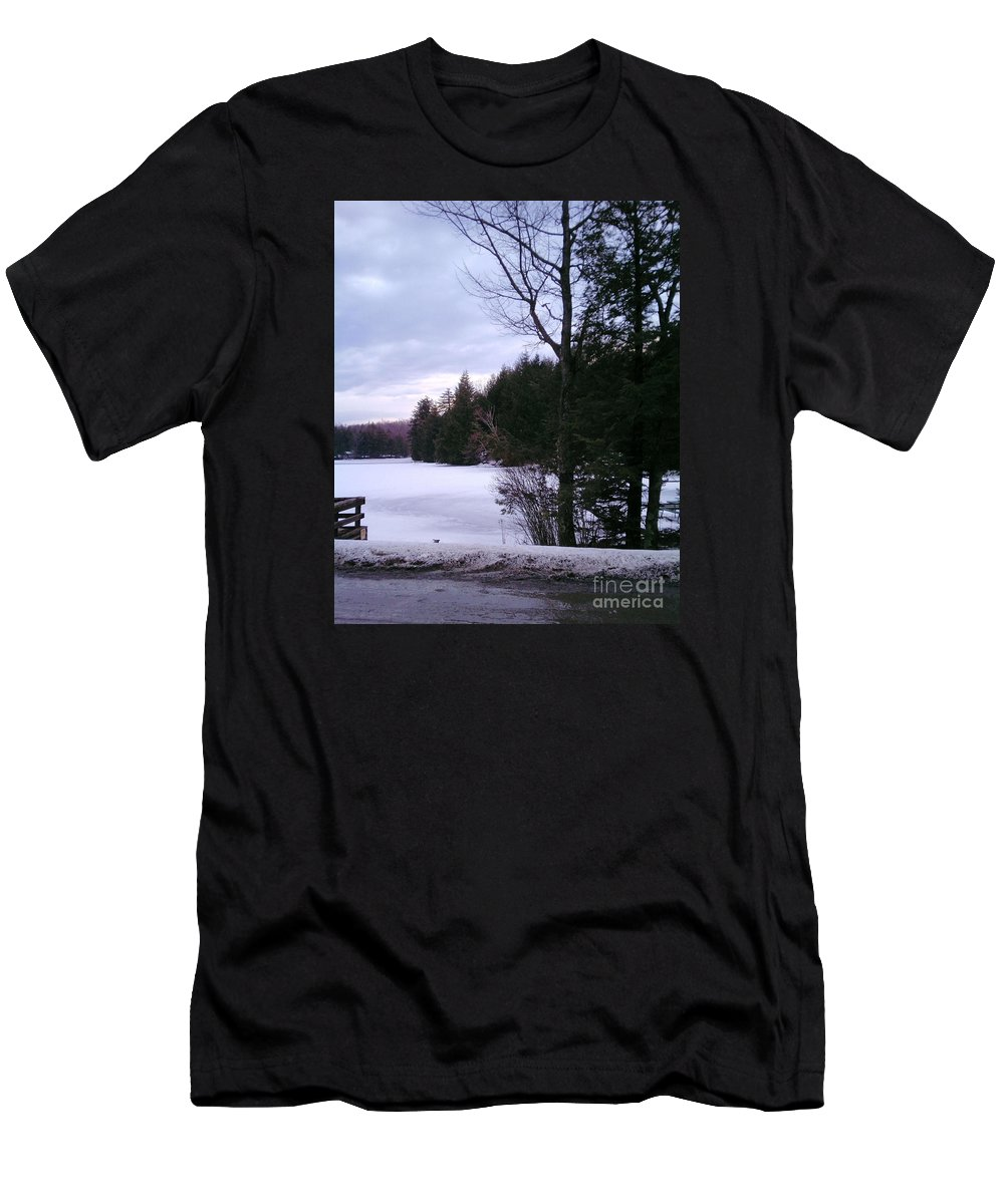 Winter Men's T-Shirt (Athletic Fit) featuring the photograph Winter In Vermont by Christy Gendalia