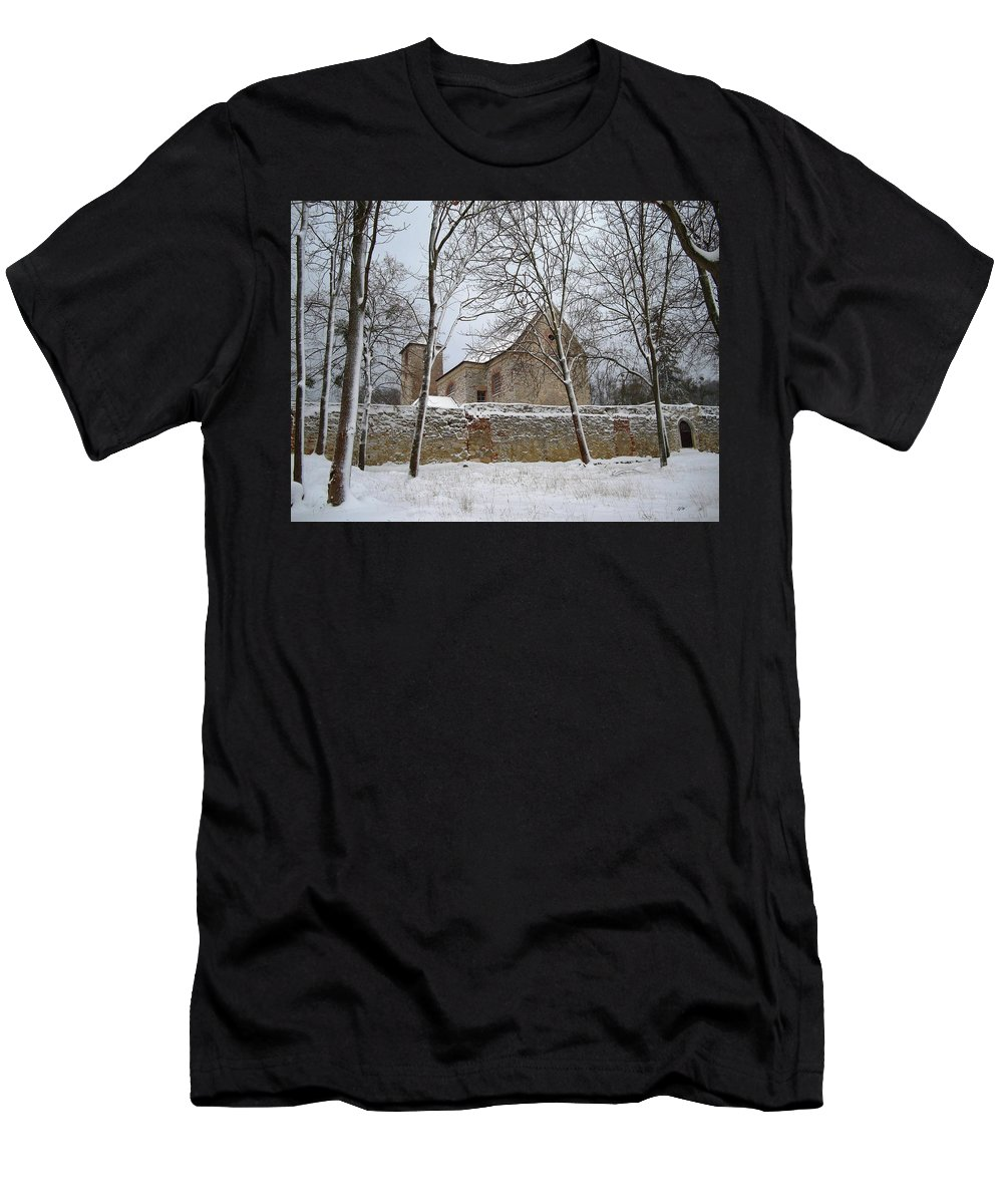 Winter Men's T-Shirt (Athletic Fit) featuring the photograph Old Monastery by Gabriella Weninger - David